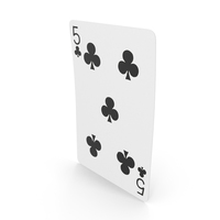 Playing Cards 5 Clubs PNG & PSD Images