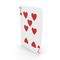 Playing Cards 7 of Hearts PNG & PSD Images
