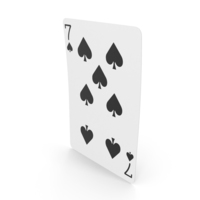 Playing Cards 7 of Spades PNG & PSD Images
