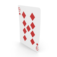 Playing Cards 9 of Diamonds PNG & PSD Images
