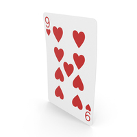 Playing Cards 9 of Hearts PNG & PSD Images