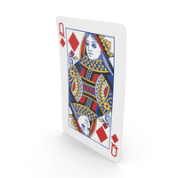 Playing Cards Queen of Diamonds PNG & PSD Images