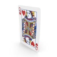Playing Cards Queen of Hearts PNG & PSD Images