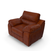 Brown Leather Chair PNG & PSD Images