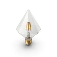 Diamond Shape Filament LED Light Bulb PNG & PSD Images