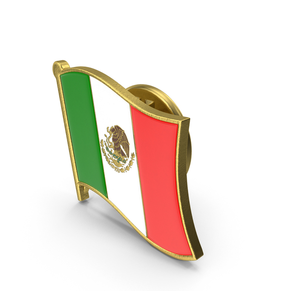 Mexican Flag Lapel Pin PNG & PSD Images