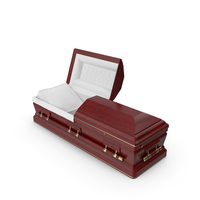 Opened Wooden Funeral Casket PNG & PSD Images