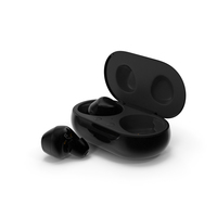Samsung Galaxy Buds Plus with Charging Case Black PNG & PSD Images