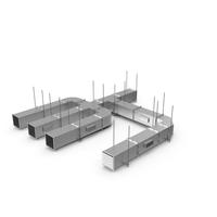 Ventilation Shaft Square System Set PNG & PSD Images