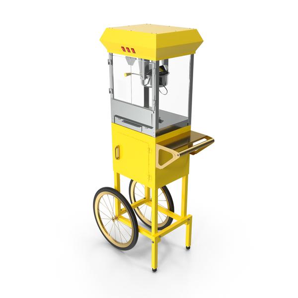 Carnival Popcorn Popper Cart Generic PNG & PSD Images