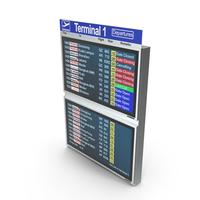 Flight Board Information Display PNG & PSD Images