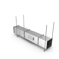 Aluminium Square Air Duct PNG & PSD Images