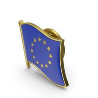European Union Flag Lapel Pin PNG & PSD Images