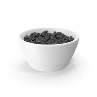 Full Bowl of Black Sunflower Seeds PNG & PSD Images