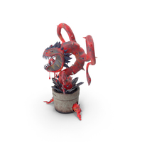 Carnivorous Flytrap Plant Red PNG & PSD Images