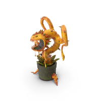 Carnivorous Flytrap Plant Yellow PNG & PSD Images