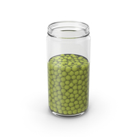 Green Peas Jar Opened PNG & PSD Images