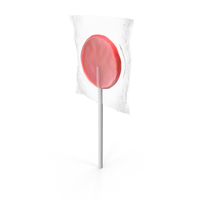 Wrapped Flat Lollipop Red PNG & PSD Images