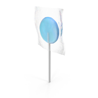 Wrapped Flat Lolipop blue PNG & PSD Images