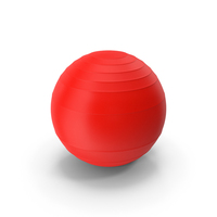 Pilates Ball Red PNG & PSD Images