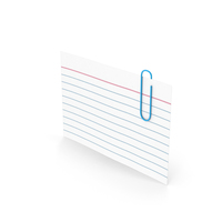 Index Card With Paper Clip PNG & PSD Images