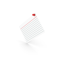 Index Card With Push Pin PNG & PSD Images