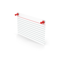 Index Card And Push Pins PNG & PSD Images