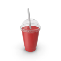 Juice Plastic Cup Red PNG & PSD Images