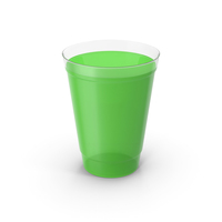 Plastic Juice Cup Green PNG & PSD Images