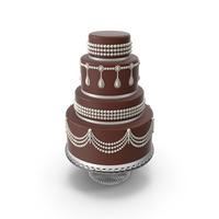 Chocolate Cascade Wedding Cake PNG & PSD Images