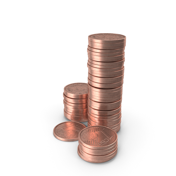Stack of One Euro Cent PNG & PSD Images