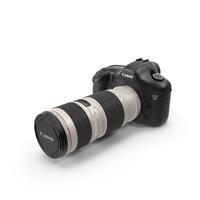 Canon 5D w 70-200mm L Lens PNG & PSD Images