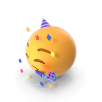 Party Face Emoji PNG & PSD Images