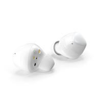 Samsung Galaxy Buds Plus TWS Earbuds White PNG & PSD Images