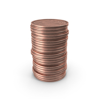 Stack of Two Euro Cent Coin PNG & PSD Images