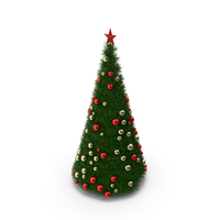 Christmas Tree with Gold and Red Balls PNG & PSD Images