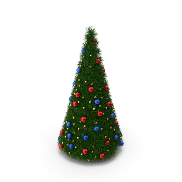 Christmas Tree with Multicolor Balls PNG & PSD Images