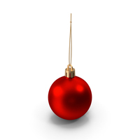 Red Metal Ball Ornament PNG & PSD Images