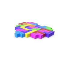 Tetris Blocks Heart PNG & PSD Images