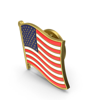 USA Flag Lapel Pin PNG & PSD Images
