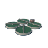 Wastewater Circular Clarifiers PNG & PSD Images
