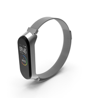 Xiaomi Mi Band 4 with Metal Strap PNG & PSD Images