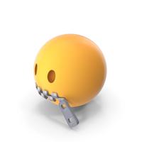 Zipper Mouth Emoji PNG & PSD Images