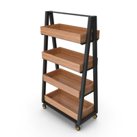 Storage Rack with Wheels PNG & PSD Images
