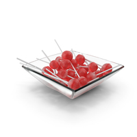 Square Bowl With Lollipops PNG & PSD Images