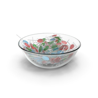 Bowl With Wrapped Flat Lollipops PNG & PSD Images