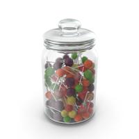 Jar With Lollipops PNG & PSD Images