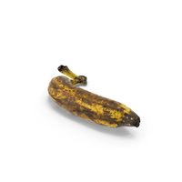 Rotten Banana Realistic PNG & PSD Images