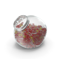 Spherical Jar With Lollipops PNG & PSD Images