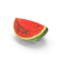 Watermelon Quarter Slice Realistic PNG & PSD Images